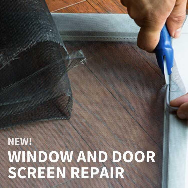 NEW! Window and Door Screen Repair with person repair screen