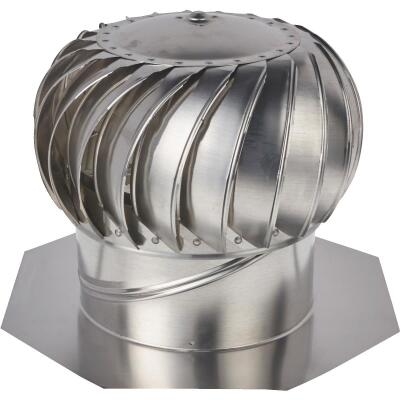 "Ventamatic Cool Attic 12"" Aluminum Mill Wind Turbine Attic Vent"