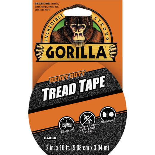 Gorilla 2 In. x 10 Ft. Black Anti-Slip Tread Tape Roll
