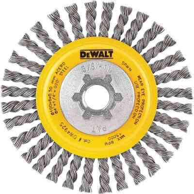 DeWalt High Performance 4 In. Carbon Stringer Bead Angle Grinder Wire Wheel