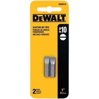 DeWalt Slotted #10 1 In. Insert Screwdriver Bit