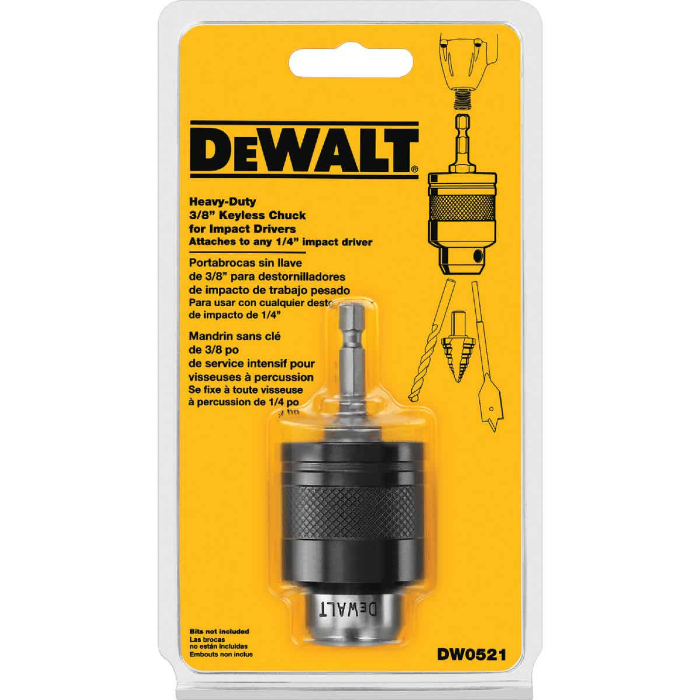 DeWalt 1/4 In. Quick Connet to 3/8 In. Keyless Impact Chuck Adapter Image 4