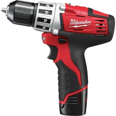 Milwaukee M12 12 Volt Lithium-Ion 3/8 In. Cordless Drill Kit