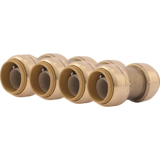 SharkBite 3/4 In. Push-to-Connect Straight Brass Coupling (4-Pack)