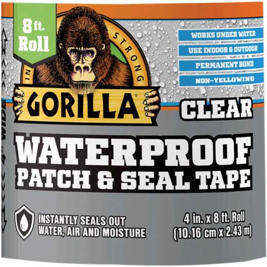 Gorilla 4 In. x 8 Ft. Waterproof Patch & Seal Repair Tape, Clear