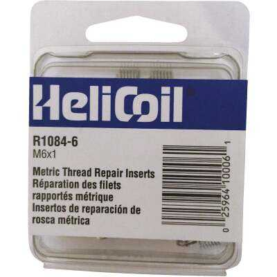 HeliCoil M6 x 1 Thread Insert Pack (12-Pack)