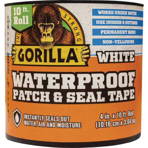 Gorilla 4 In. x 10 Ft. Waterproof Patch & Seal Repair Tape, White