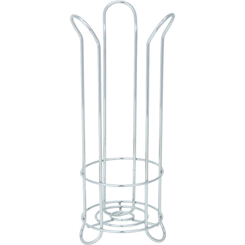 InterDesign Forma Chrome Tulip Freestanding Toilet Paper Holder Image 2