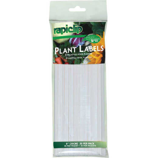 Rapiclip 8 In. Plastic Garden Marker Plant Label (30-Pack)