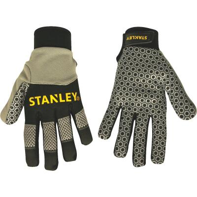Stanley Men's Large Synthetic Leather Silicone Grip High Performance Glove