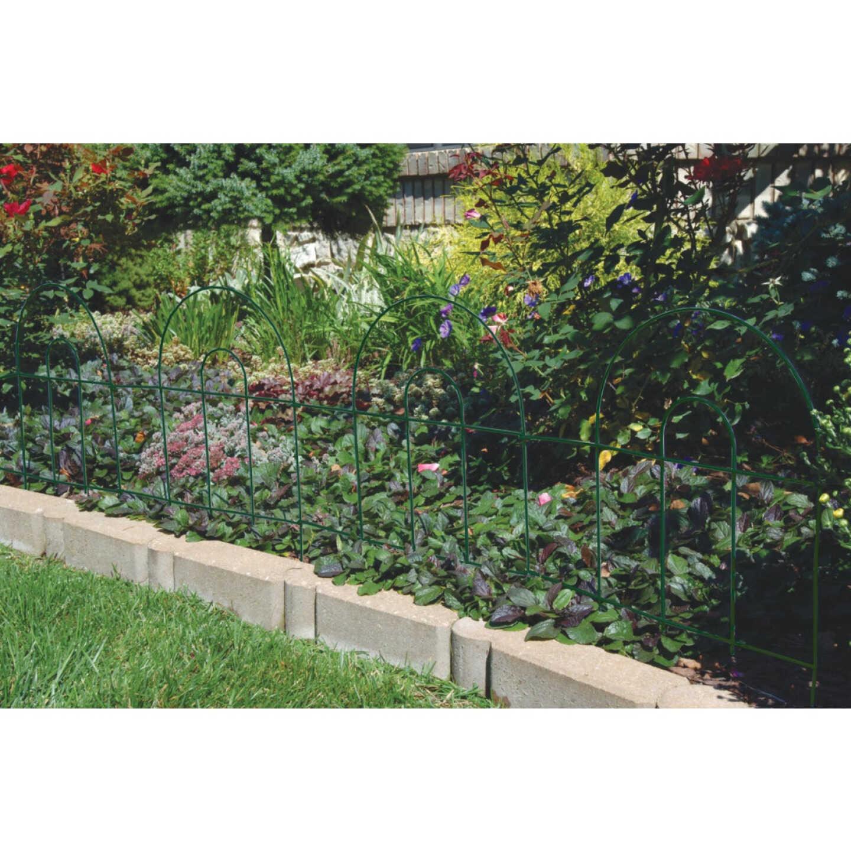 Best Garden 8 Ft. Powder-Coated White Wire Folding Fence Image 2