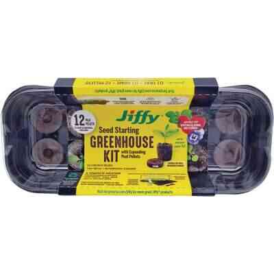 Jiffy 12-Pellet Windowsill Greenhouse Seed Starter Kit