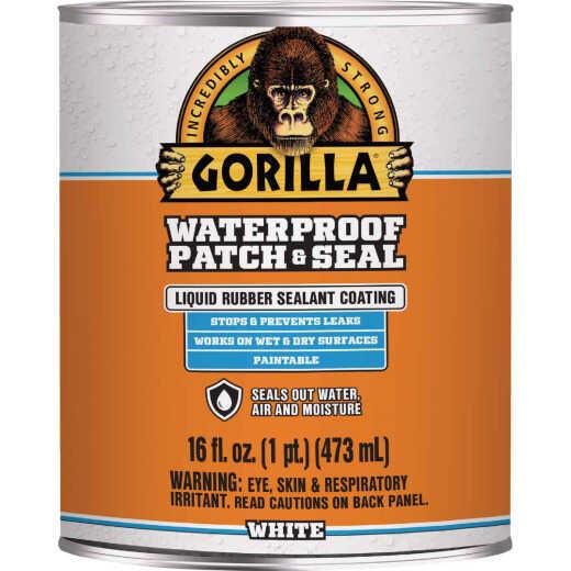 Gorilla 16 Oz. White Waterproof Patch & Seal Liquid