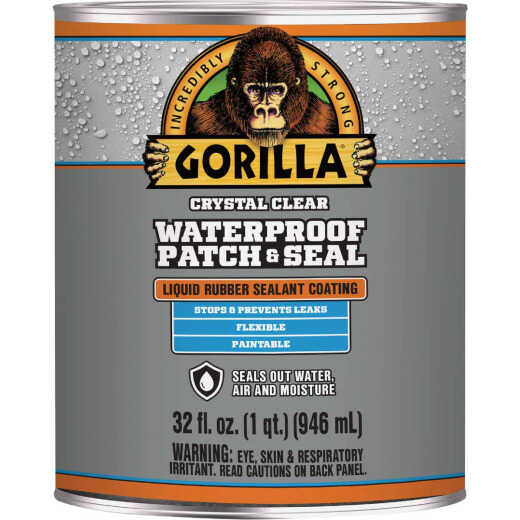 Gorilla 32 Oz. Clear Waterproof Patch & Seal Liquid
