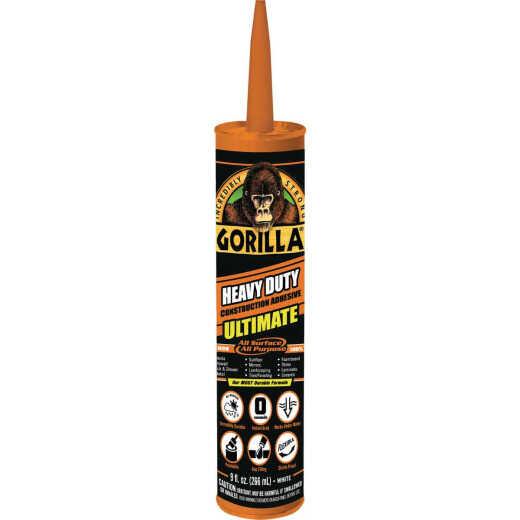 Gorilla 9 Oz. Heavy Duty Construction Adhesive Ultimate
